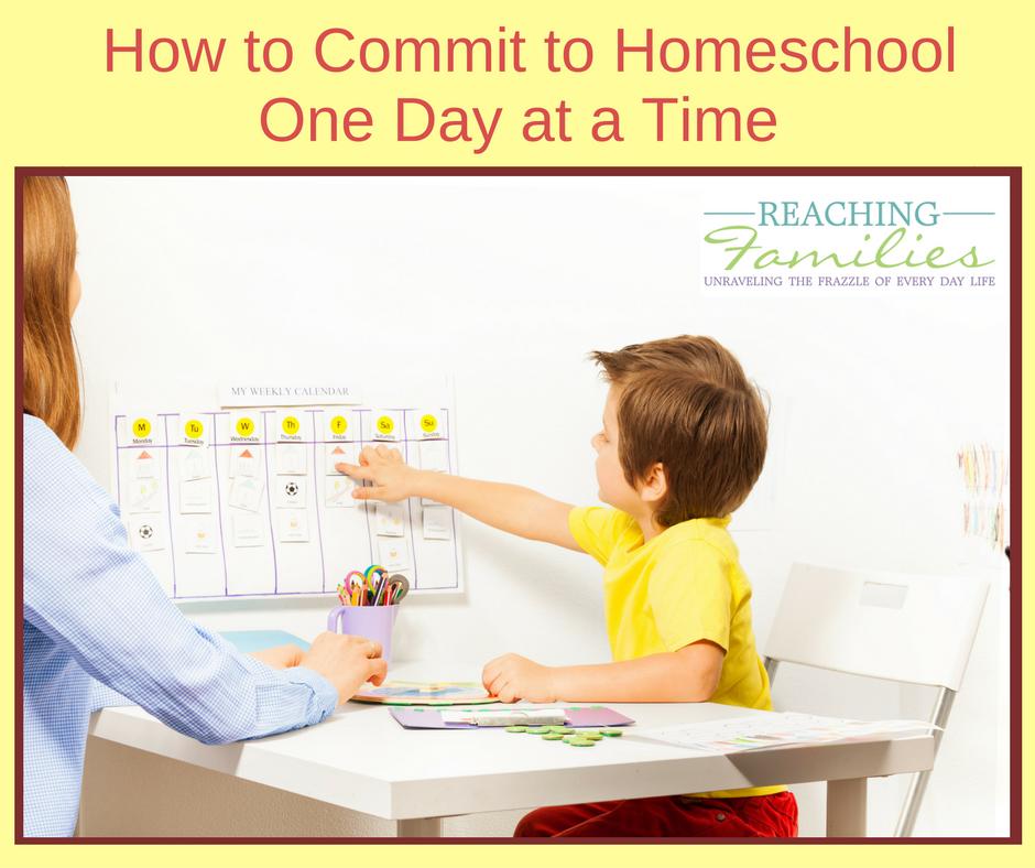 Commit to homeschool