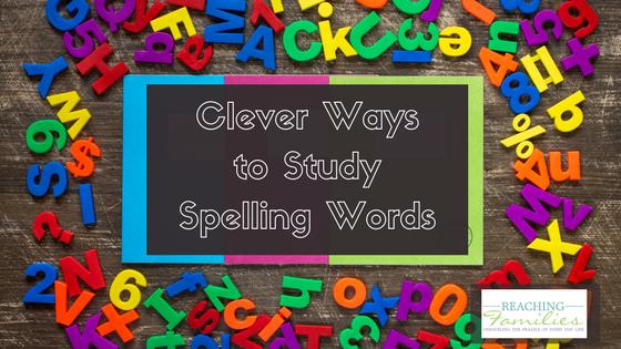 ways to study spelling words