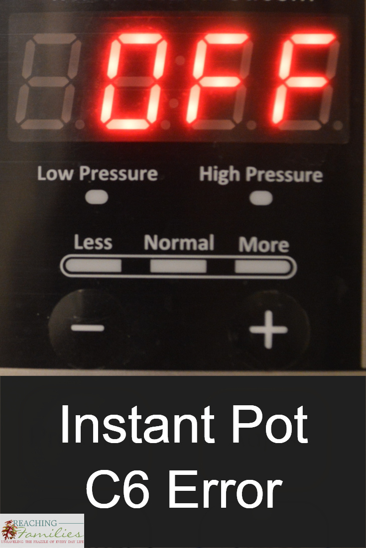 C6 Error on my Instant Pot
